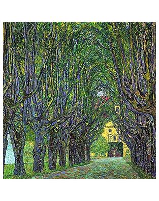 Avenue in Schloss Kammer Park Print by Gustav Klimt