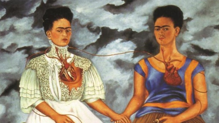 The Two Fridas (Las dos Fridas). Oil on canvas painted in 1939.