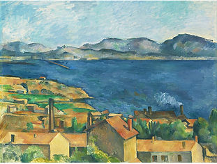 The Bay of Marseilles Seen from Lestaque Large Art Print Poster