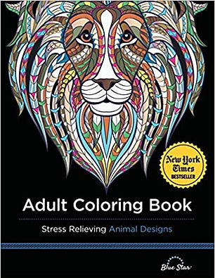 Adult Colouring Book: Stress Relieving Animal Designs Paperback