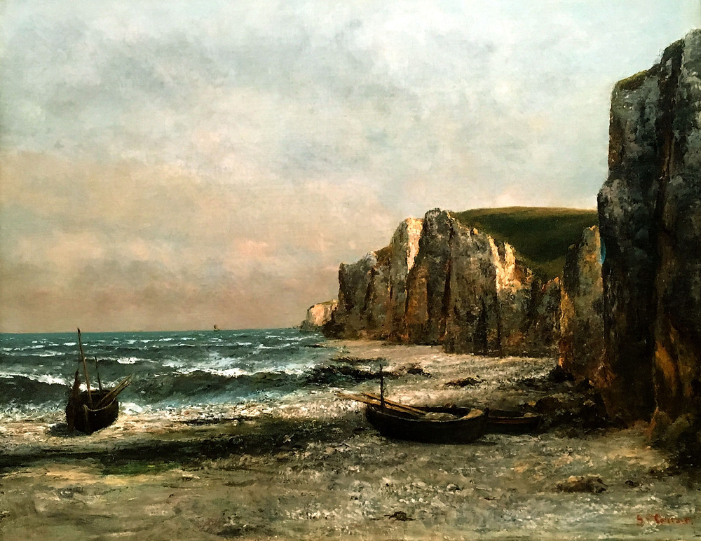 The Rocks at Etrat by Gustave Courbet