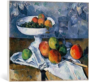 Still Life with Fruit, Canvas Print, 1879-80 by Paul Cezanne