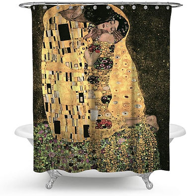 The Kiss by Gustave Klimt - Bath Shower Curtain