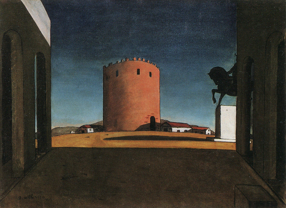The Red Tower by Giorgio de Chirico