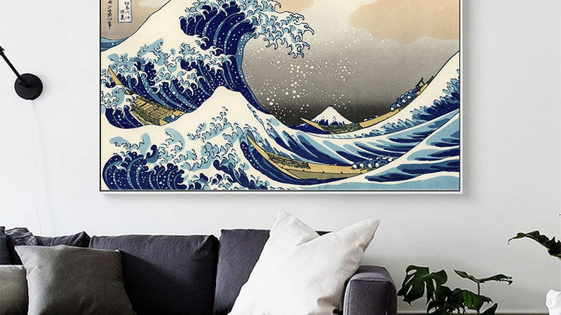 The Great Wave of Kanagawa Ukiyoe Japanese Art Poster