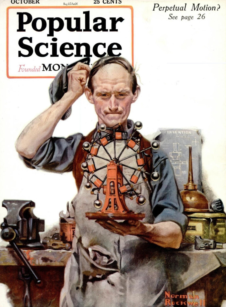 Popular Science Cover Norman Rockwell