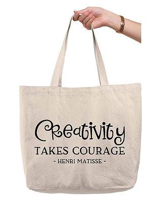 Quote Tote - Creativity Takes Courage, Henri Matisse