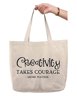 Quote Tote - Creativity Takes Courage, Henri Matisse