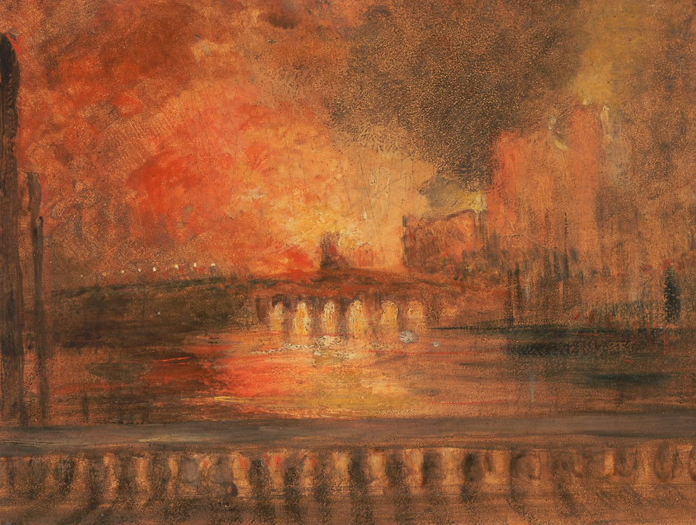 The Burning of the Houses of Parliament - Formerly Joseph Mallord William Turner