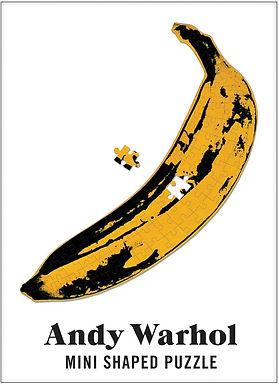 Andy Warhol Mini Shaped Puzzle Banana
