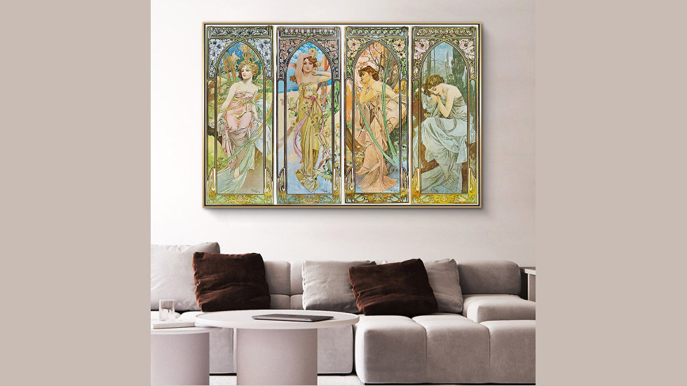Alphonse Mucha Times of Day Series Vintage Posters and Prints
