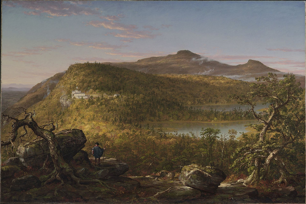 A View of the Two Lakes and Mountain House, Catskill Mountains by Thomas Cole