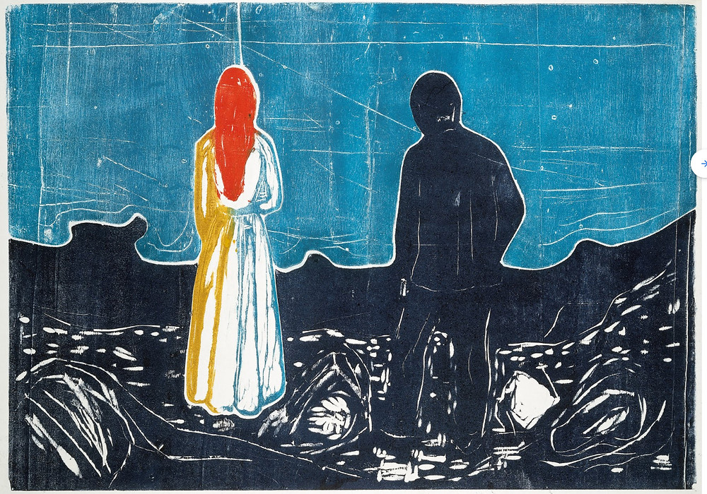 Two People: The Lonely Ones by Edvard Munch