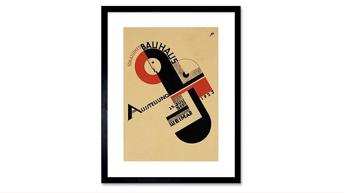 The Art Stop Exhibition Bauhaus Advert Framed Print