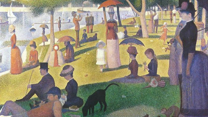 Study for A Sunday Afternoon on the Island of La Grande Jatte, 1884-85