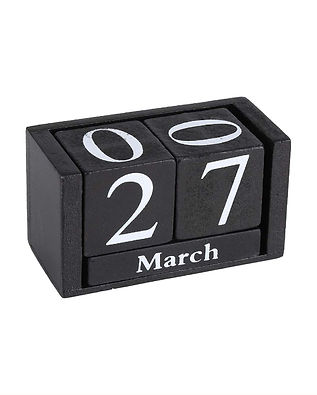 Desktop Perpetual Wooden Calendar