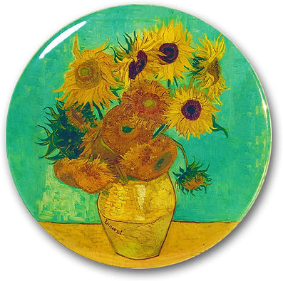 Vincent Van Gogh Pin and Tinplate