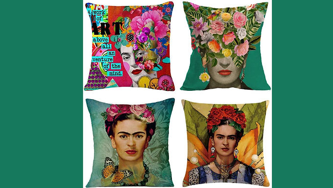 Joyi 4 Pack Frida Kahlo Self-Portrait Pillow Cases