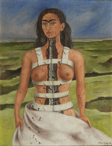 The broken column was painted shortly after Frida had undergone surgery to her spinal column