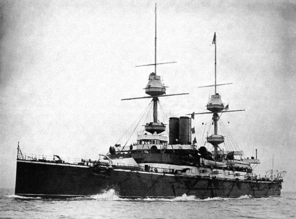H.M.S Majestic - photo taken in 1895