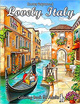 Lovely Italy Colouring Book for Adults