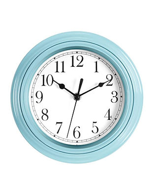 Foxtop Silent Minimalist Non-Ticking Clock (Blue)