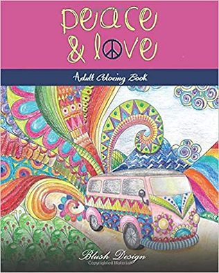 Peace and Love: Adult Coloring Book