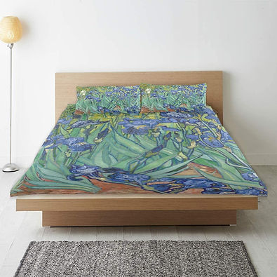 Van Gogh Irises Pattern Duvet Cover