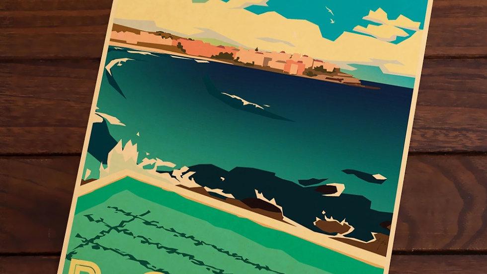 Bondi Sydney Australia Pop Art Map Poster