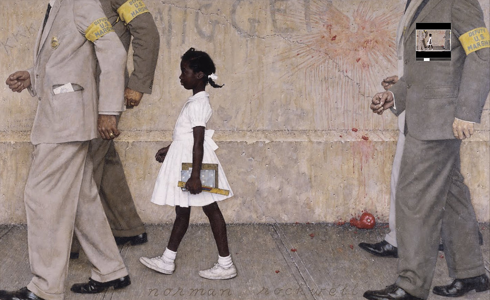 A Problem We All Live With by Norman Rockwell