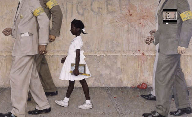 """Featured work of art: """"A Problem We All Live With"""" by Norman Rockwell"""