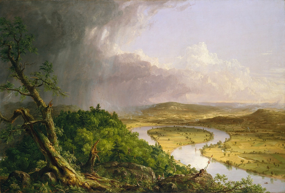 The Connecticut River near Northhampton by Thomas Cole