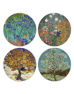 Caribou Coaster Impressionist Print Decoration