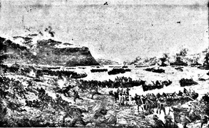 The Landing of the ANZACS April, 1915