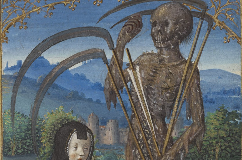 Denise Poncher before a Vision of Death Master of the Chronique scandaleuse1500