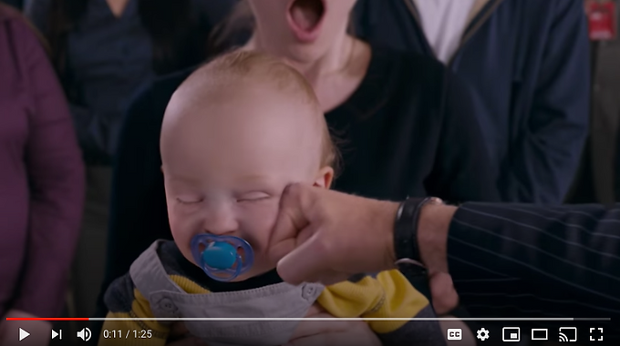 Punching the baby scene