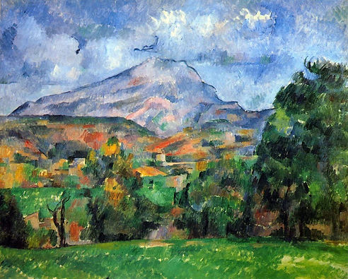 Mount St. Victoire by Cezanne Print Poster
