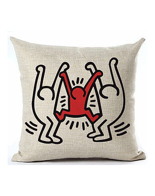 Keith Haring Art Print Cushion Cover