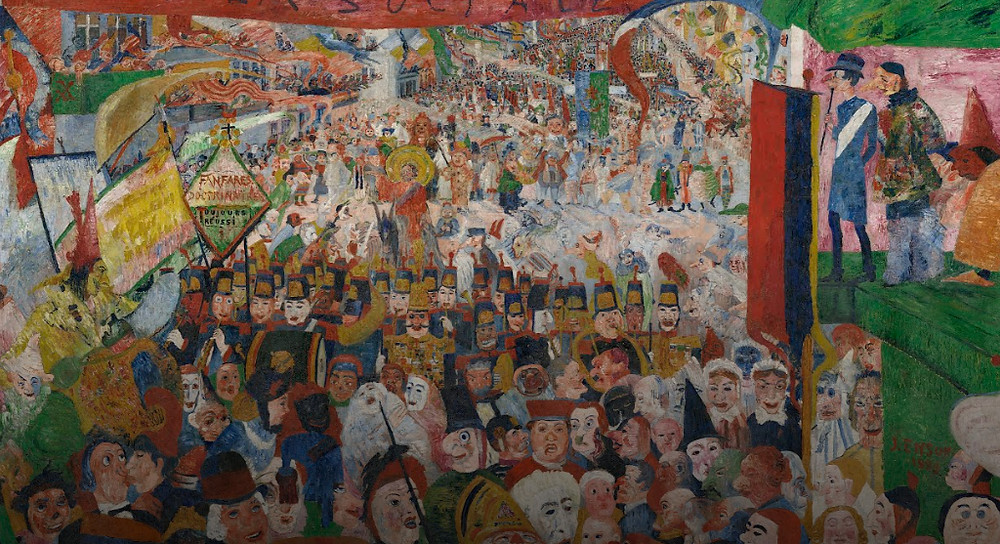 Christs Entry into Brussels in 1889 (Getty Museum) by James Ensor