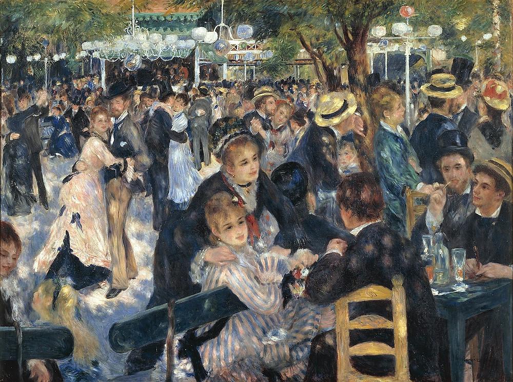 Bal du moulin de la Galette by Auguste Renoir