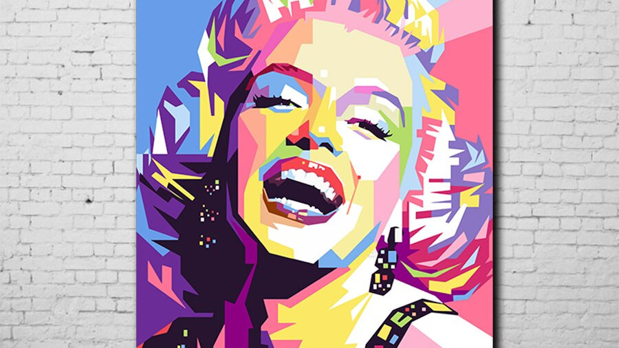 Colourful Marilyn Monroe Canvas Wall Art