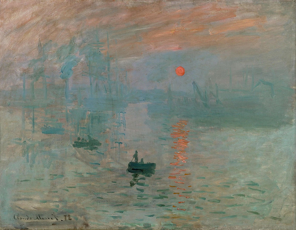 Monet - Impression, Sunrise print