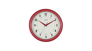 La Crosse Technology Red Retro Diner Clock