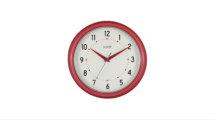 La Crosse Technology Red Retro Diner Clock