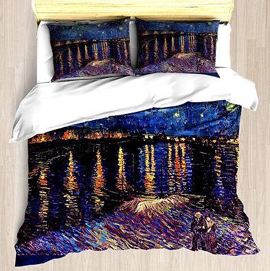 Van Gogh Starry Night Over the Rhone Duvet Cover Set