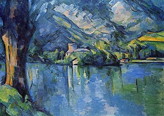 Paul Cezanne: Lake of Annecy. Fine Art Print/Poster. Size A4 (29.7cm x 21cm)
