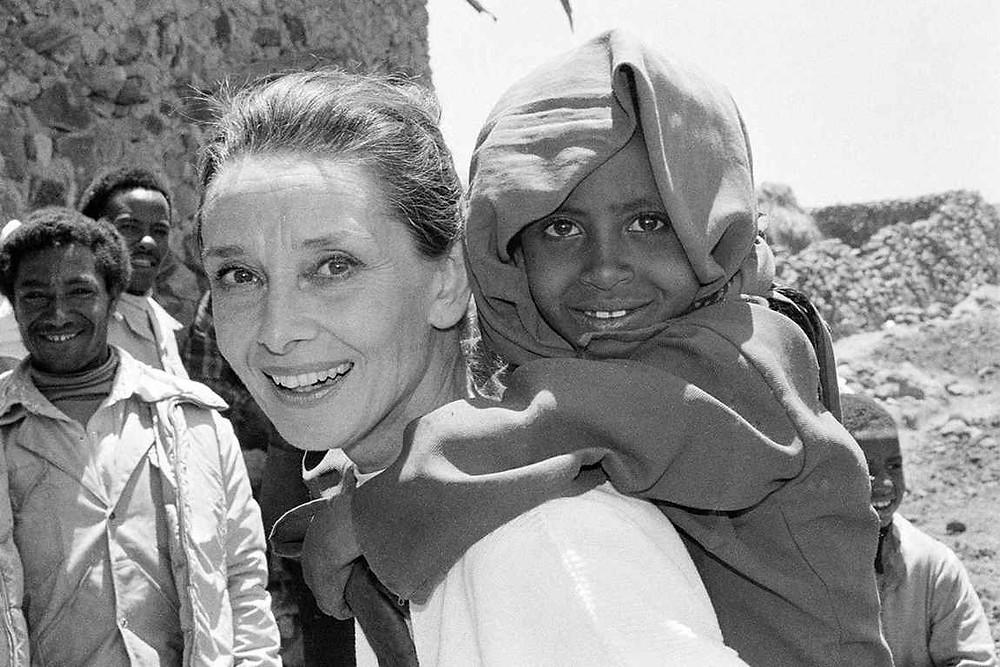 Audrey Hepburn working for UNICEF