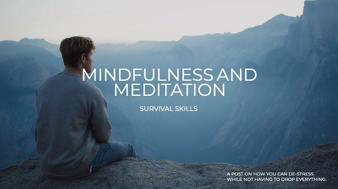 Mindfulness and Meditation Survival Skills