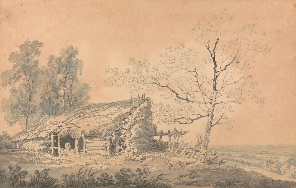 Landscape with Barn - Joseph Mallord William Turner