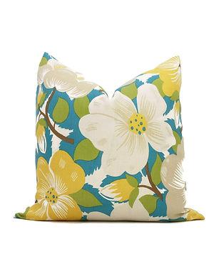 Citron Peacock Magnolia Decorative Pillow Covers 18x18 Paul Poiret